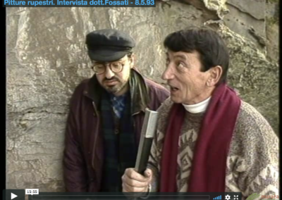 Pitture rupestri – Intervista al Dott. Fossati 1993